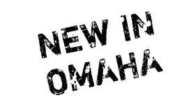 Nytt i Omaha den rubber stämpeln Arkivbild