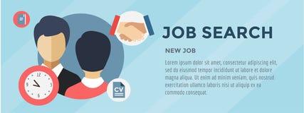 Nytt jobbsökande Infographic Rekrytering kontor stock illustrationer