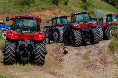 Nytt jordbruk för traktorer Arkivfoto