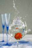 nytt jordgubbevatten för bägare en Royaltyfri Bild