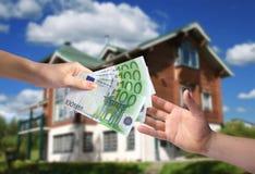 nytt köpande hus Royaltyfri Bild