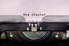 Nytt kapitel arkivbild