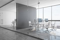 Nytt konkret coworking kontor vektor illustrationer