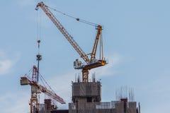 nytt konstruktionshus Arkivbild