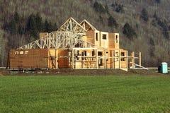 nytt konstruktionshus Fotografering för Bildbyråer