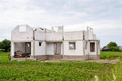 nytt konstruktionshus Arkivfoton