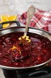 Nytt lagad mat tranbärsås Fotografering för Bildbyråer