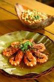 Nytt lagade mat havsräkor Fotografering för Bildbyråer