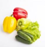 Nytt livsmedel på vit bakgrund Royaltyfria Foton