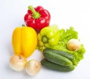 Nytt livsmedel på vit bakgrund Royaltyfri Bild