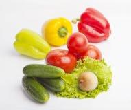 Nytt livsmedel på vit bakgrund Royaltyfri Foto