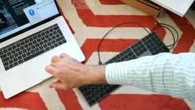 Nytt magiskt tangentbord med unboxing för utrymme för numeriskt tangentbord grå Royaltyfri Fotografi