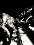 NYTT marschera musikband Arkivbilder