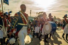 NYTT marschera musikband royaltyfria foton