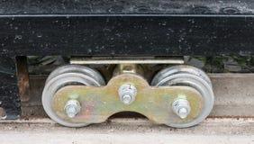 Nytt metallhjul av metallporten Royaltyfri Fotografi