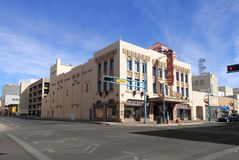 Nytt - Mexiko/Albuquerque: Art Deco Building - KiMo Theater Arkivbild