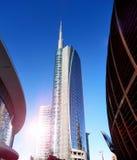 Nytt modernt område i Milan Arkivfoton