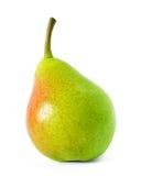 Nytt moget päron som isoleras på den vita bakgrunden royaltyfria foton