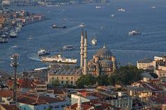 Nytt moské- och havstrans. på Istanbul Arkivbild