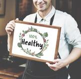 Nytt näringsrikt grönt naturligt heathy begrepp royaltyfri bild