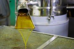 Nytt olje- flöda i facket Arkivfoton