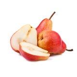 Nytt päron på vit Arkivfoton