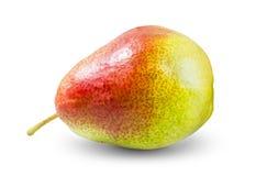 Nytt päron som isoleras på vit bakgrund Arkivbild