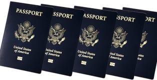 nytt pass USA för bok Arkivbild