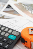 nytt plan för hus Fotografering för Bildbyråer