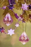 nytt purpurt stjärnaår royaltyfria bilder