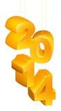 Nytt år eller jul 2014 prydnader Arkivbilder