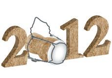 nytt s år för 2012 helgdagsafton stock illustrationer