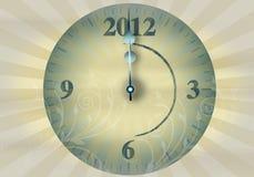 nytt s år för 2012 helgdagsafton vektor illustrationer