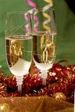 nytt s år för champagne Arkivfoton