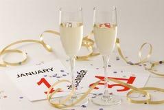 nytt s år för helgdagsafton Royaltyfria Bilder