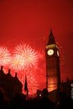 nytt s år för helgdagsaftonfyrverkerier Royaltyfria Foton