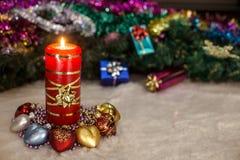 nytt s år för stearinljus Royaltyfria Bilder