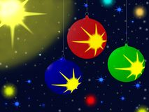 nytt s sphereår för celebratory jul Arkivfoto