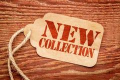 Nytt samlingstecken - prislapp Arkivfoton