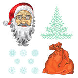 nytt setår Julfärgbeståndsdelar Royaltyfria Foton