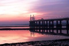 nytt severn för bro Arkivbilder