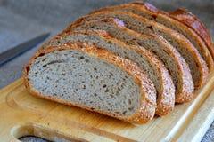 Nytt skivat bröd Arkivfoton