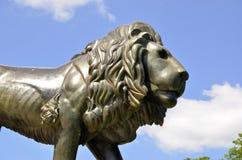 Nytt slott i dåliga Muskau - Liondetaljer royaltyfria foton