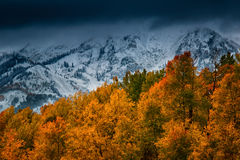 Nytt snöfall över Kebler Arkivfoto