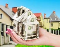nytt sparande för huspengar upp Royaltyfri Fotografi