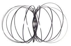 Nytt spiralt dille som göras från stål Arkivbild