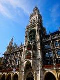 Nytt stadshus av Munich, Tyskland Royaltyfri Foto