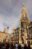 Nytt stadshus. Munich. Tyskland Royaltyfri Fotografi