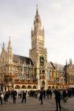 Nytt stadshus. Munich. Tyskland Royaltyfria Foton