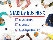 Nytt Startup begrepp för idéer för affärstillfällen Royaltyfri Foto